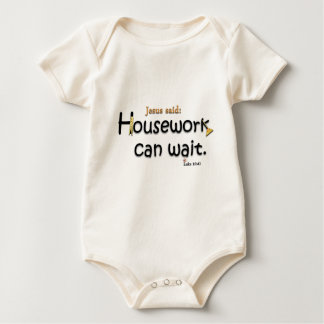 Jesus Said Housework Can Wait Baby Bodysuit