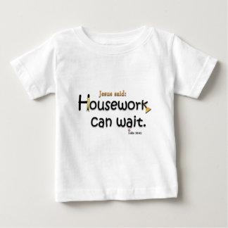 Jesus Said Housework Can Wait Baby T-Shirt