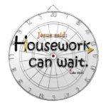 Jesus Said Housework Can Wait Dartboard