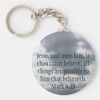 Jesus said unto him, If thou canst......Mark 9:23 Basic Round Button Keychain