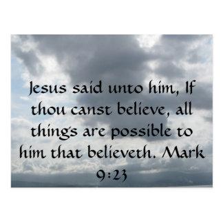 Jesus said unto him, If thou canst......Mark 9:23 Postcard