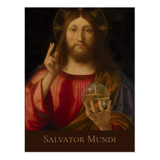 Jesus Salvator mundi Andrea Previtali CC0985 Postcard