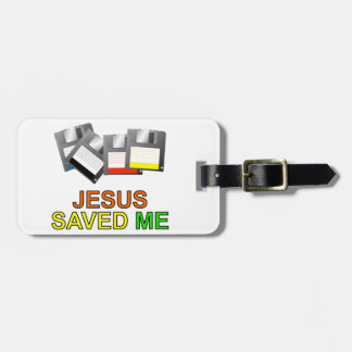 Jesus Saved Me Floppy Disk Tags For Luggage