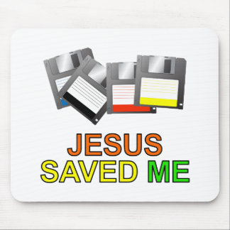 Jesus Saved Me (Floppy Disk) Mouse Pad