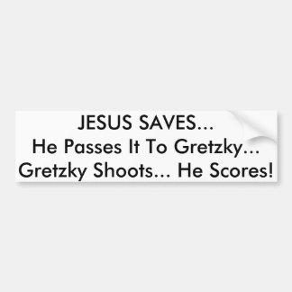 Jesus saves 2 bumper sticker