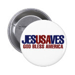 Jesus Saves 2 Inch Round Button