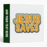 Jesus Saves 3 Ring Binder