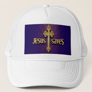 Jesus Saves 4 Trucker Hat