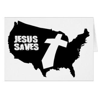 Jesus Saves America design Card