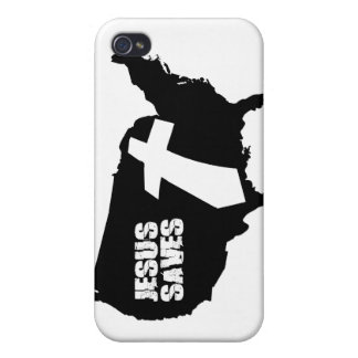 Jesus Saves America design Cover For iPhone 4
