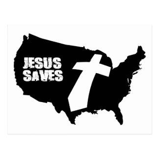 Jesus Saves America design Postcard