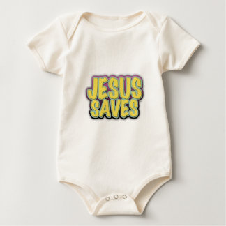 Jesus Saves Baby Bodysuit