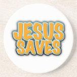 Jesus Saves Beverage Coasters