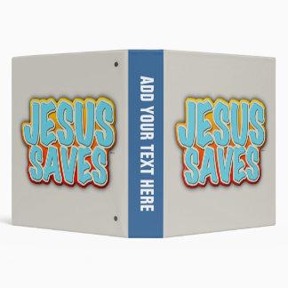 Jesus Saves Binder