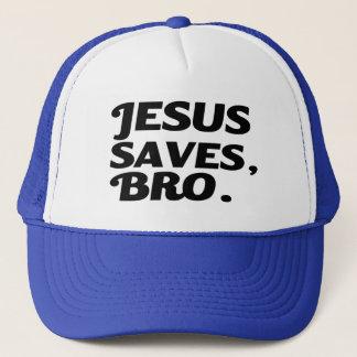 Jesus Saves Bro funny Trucker Hat