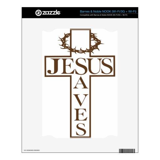 jesus saves brown NOOK skin