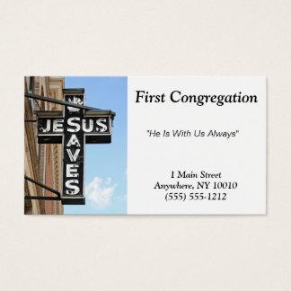 Jesus Saves Business Card