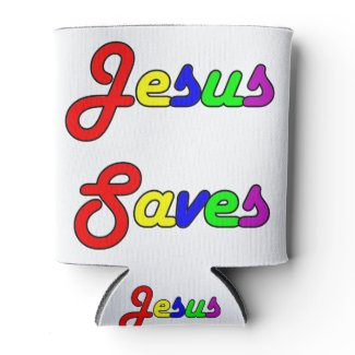 Jesus Saves Can Cooler
