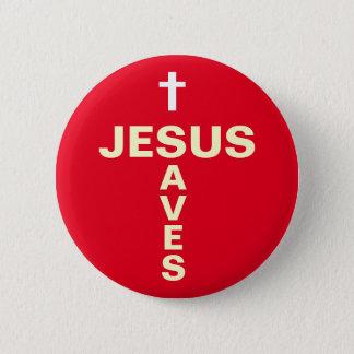 Jesus Saves Christian Evangelising Button/Badge Button