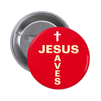 Jesus Saves Christian Evangelising Button/Badge Button