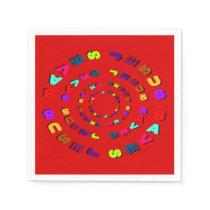 Jesus Saves (circle red) Paper Napkin