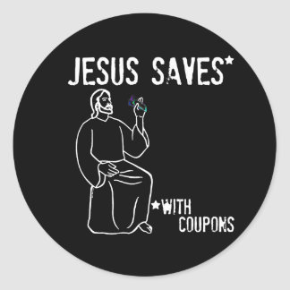 Jesus Saves Classic Round Sticker