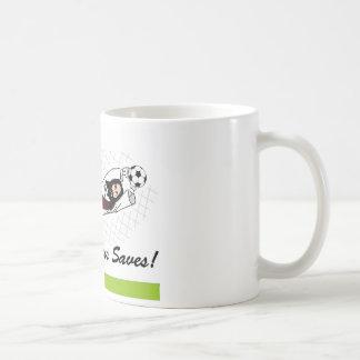 JESUS SAVES! CLASSIC WHITE COFFEE MUG