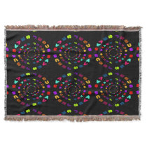 Jesus Saves Colorful Circles Throw Blanket