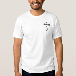 Jesus Saves (CROSS) Embroidered T-Shirt