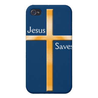 Jesus Saves-Cross iPhone 4/4S Cover