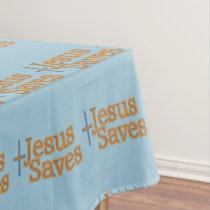 Jesus Saves Cross Tablecloth
