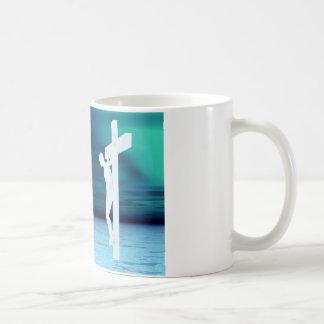 Jesus saves crucifixion picture coffee mug