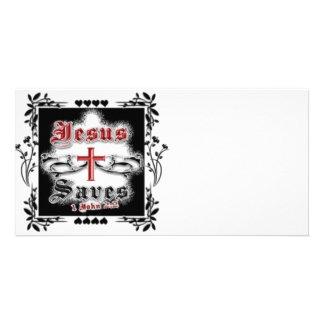 Jesus Saves! - Designer Photo Card / Advertisment