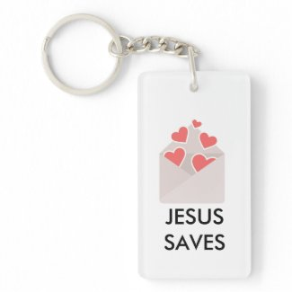 JESUS SAVES Double-sided Key Chain