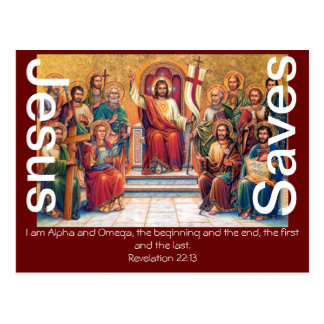 Jesus Saves Faith Blessing Bible Love Peace Lamb Postcard