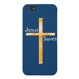 Jesus Saves-Faux Stone Religious Cross Cover For iPhone SE/5/5s