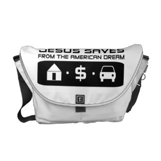 Jesus Saves From Commuter Bags