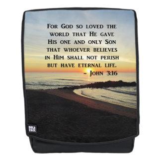 JESUS SAVES JOHN 3:16 SUNRISE BACKPACK