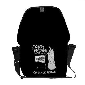 JESUS SAVES ON BLACK FRIDAY MESSENGER BAGS