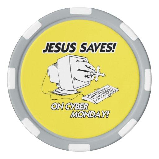 JESUS SAVES ON CYBER MONDAY POKER CHIPS