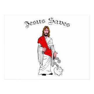 Jesus Saves Post Card