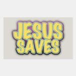 Jesus Saves Rectangle Sticker