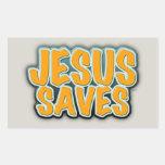 Jesus Saves Rectangular Sticker