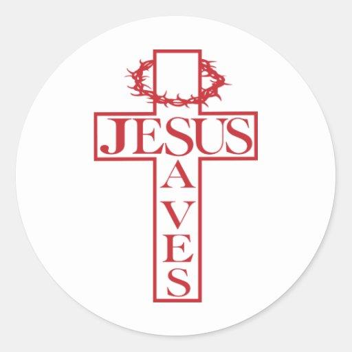 jesus saves red stickers