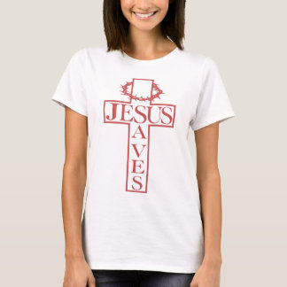 jesus saves salmon T-Shirt