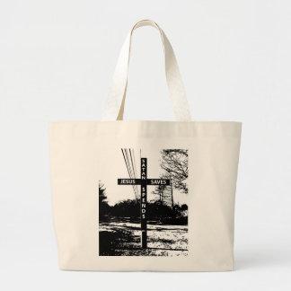Jesus Saves Satan Spends Bag by Matt Landon