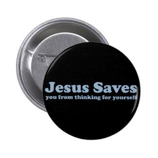 Jesus Saves Satire Button