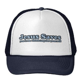 Jesus Saves Satire Trucker Hat