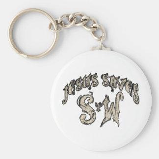 Jesus Saves Spread the Word Basic Round Button Keychain