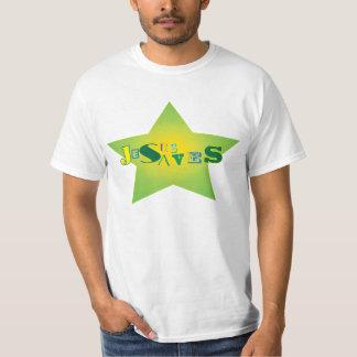 Jesus Saves Star Tee Shirt